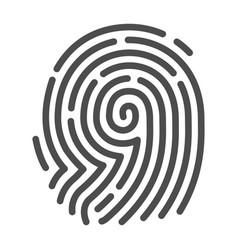 fingerprint security image fingertip mark vector image