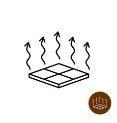 Floor heating icon warm symbol house vector