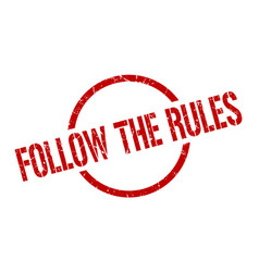 Follow rules stamp vector