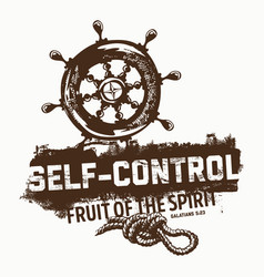 fruit of the spirit selfcontrol vector image