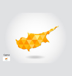 geometric polygonal style map of cyprus low poly vector image