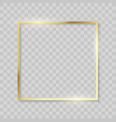 gold frame realistic golden texture borders shiny vector image