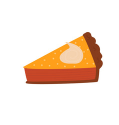 hand drawn of a pumpkin slice pie vector image