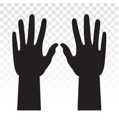 Hand or fingers hands flat icon for apps vector