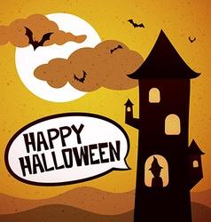 Happy Halloween tower vector image