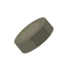 hockey puck in cartoon vector image