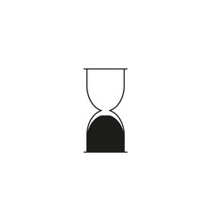 hourglass end icon vector image