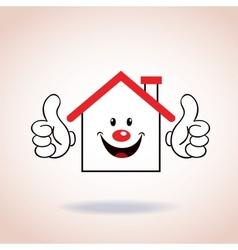 House symbol mascot cartoon character vector