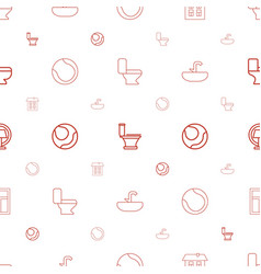 Indoor icons pattern seamless white background vector