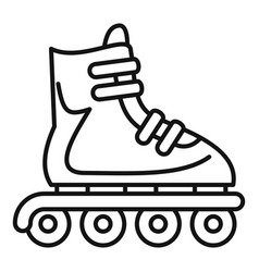 Inline skates icon outline style vector