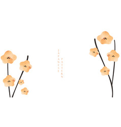 japanese background with camellia flower floral vector image
