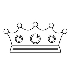 Jewelry crown icon outline style vector
