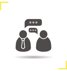 Job interview icon vector