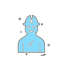 labour icon design vector image