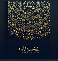 Luxury golden mandala art background vector