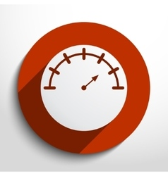 Manometer web icon vector
