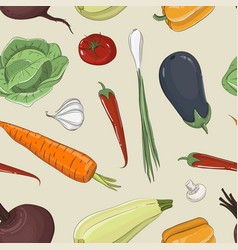 Mixed vegetable - vegetable isolated pattern vector