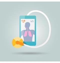 Mobile medicine concept vector