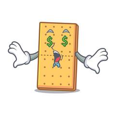 Money eye graham cookies mascot cartoon vector