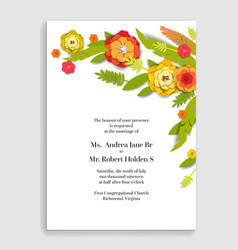 natura holiday flowers card vector image