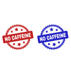 no caffeine rosette stamps using corroded texture vector image