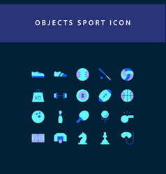 object sport flat style design icon set vector image