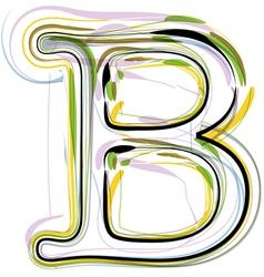 Organic Font letter b vector