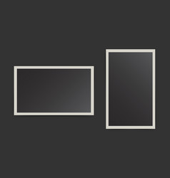 Photo frame on isolated background for your vector