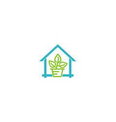 plant garden home logo vector image