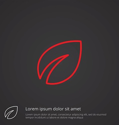 Plant outline symbol red on dark background logo vector