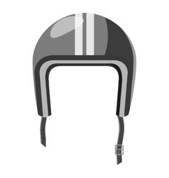 Protective helmet icon gray monochrome style vector