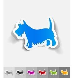 Realistic design element scottish terrier vector