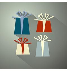 Retro present box gift box set vector
