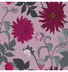 Romantic Seamless Flower Pattern vector image