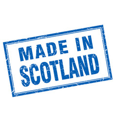 Scotland blue square grunge made in stamp vector