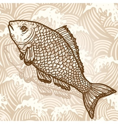 Sea fish vector