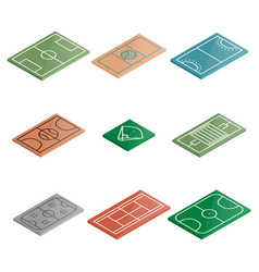 set of icons playgrounds in isometric vector image