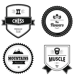 Set of retro logos vector