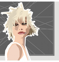shaggy hair vector image