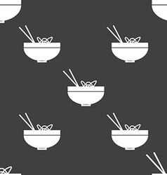 Spaghetti icon sign Seamless pattern on a gray vector