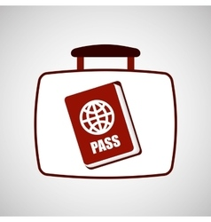 travel concept passport document vector image