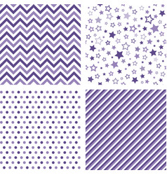 ultra violet seamless patterns backgrounds vector image