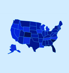 usa state map state map vector image