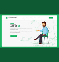 web page design business style front end vector image