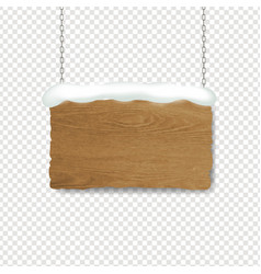 Wooden sign with transparent background vector
