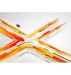 abstract orange lines vector image vector image