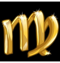 Gold zodiac sign Scorpio on black background vector image vector image