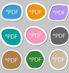 PDF file document icon Download pdf button PDF vector image