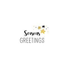 simple merry christmas hand-drawn card vector image vector image