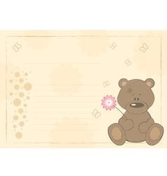 teddy bear postcard vector image vector image